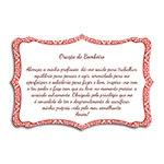 Plaquinha Oração do Bombeiro - 27x18 cm