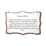 Plaquinha Oração do Direito - 27x18 cm
