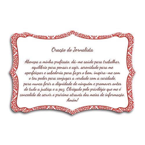 Plaquinha Oração do Jornalista - 27x18 cm