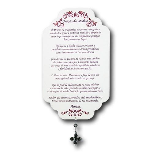 Plaquinha Oração do Médico - 29x18 cm