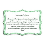 Plaquinha Oração do Professor - 27x18 cm
