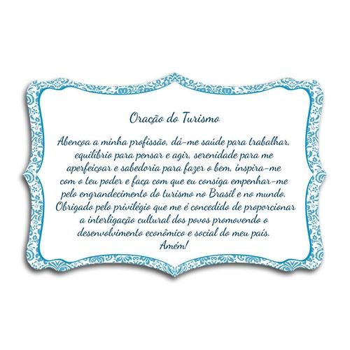 Plaquinha Oração do Turismo - 27x18 cm