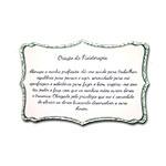 Plaquinha Oração da Fisioterapia - 27x18 cm