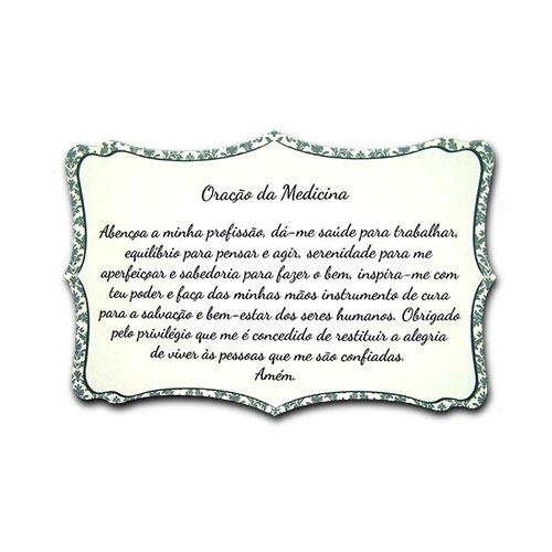 Plaquinha Oração da Medicina - 27x18 cm
