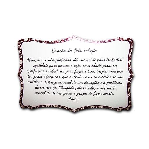 Plaquinha Oração da Odontologia - 27x18 cm