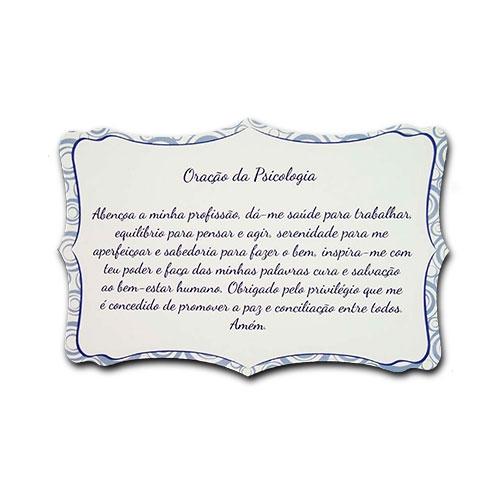 Plaquinha Oração da Psicologia - 27x18 cm