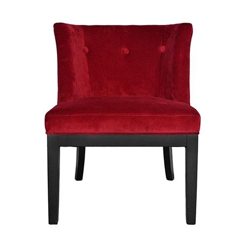 Poltrona Veneza Vermelha em Veludo - 82x69 cm