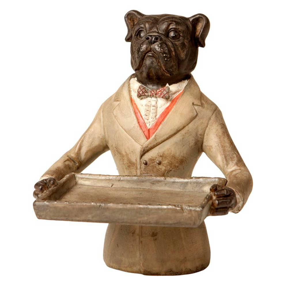 Porta Cartão de Cachorro em Resina - 16x12 cm