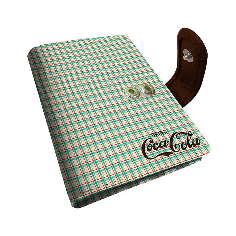 Porta Cartão Coca-Cola Del e Refresh Xadrez em PU - Urban - 10,5x8 cm