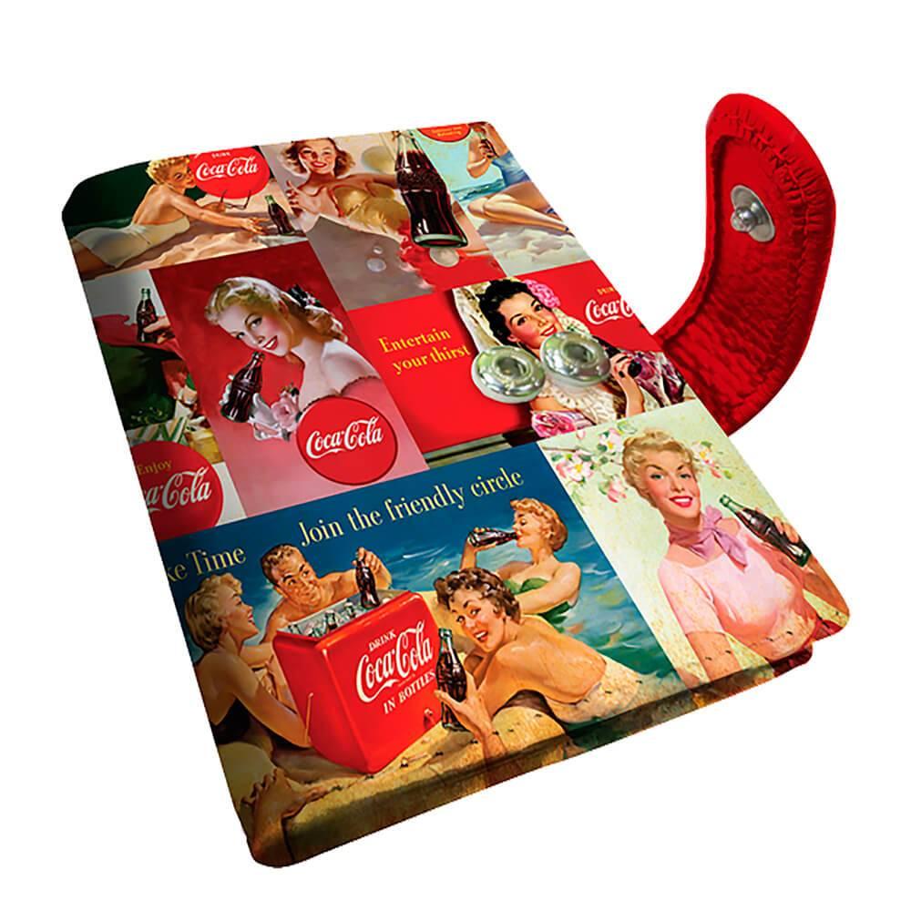 Porta Cartão Coca-Cola Pin Ups em PU - Urban - 10,5x8 cm