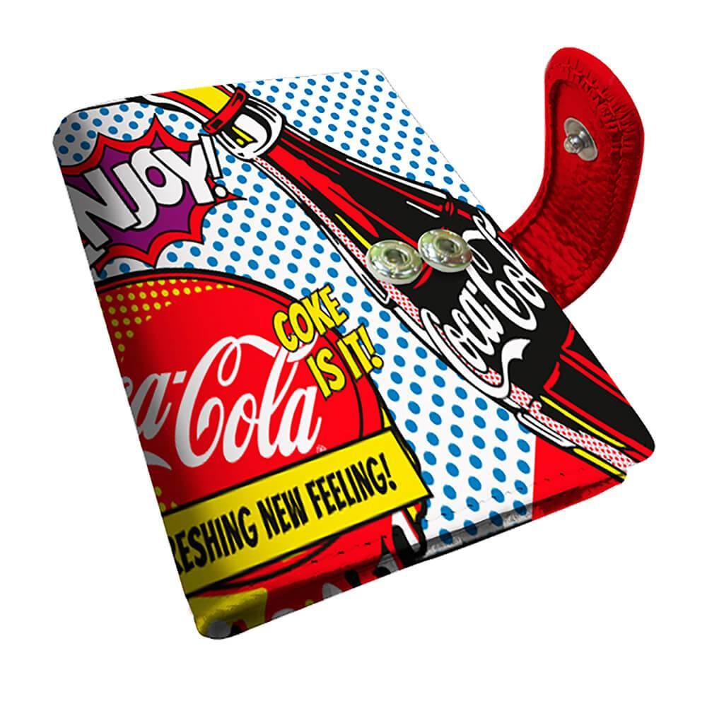 Porta Cartão Coca-Cola Pop Up em PU - Urban - 10,5x8 cm