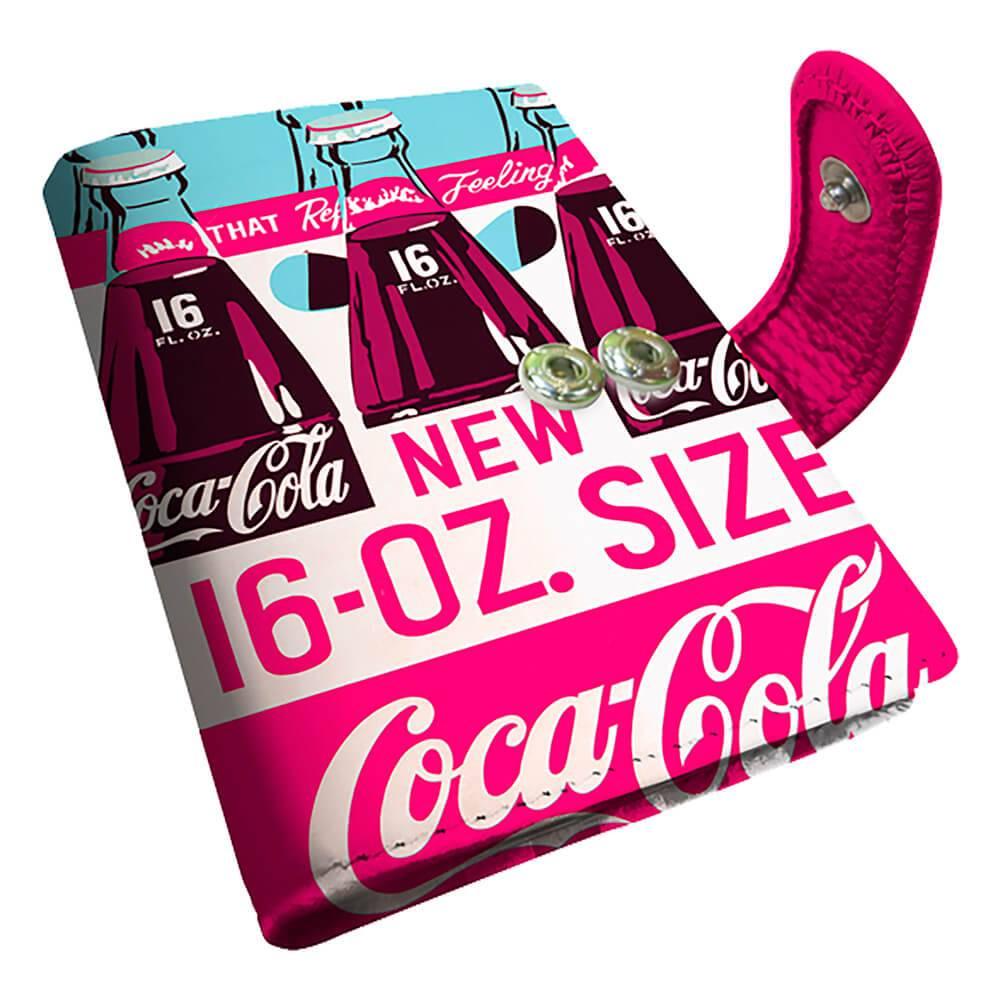 Porta Cartão Coca-Cola Three Bottles Rosa em PU - Urban - 10,5x8 cm