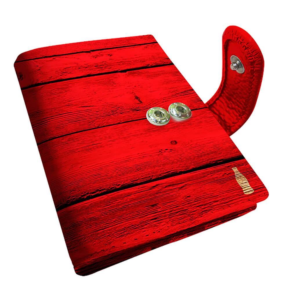 Porta Cartão Coca-Cola Wood Style Vermelho em PU - Urban - 10,5x8 cm