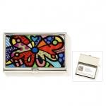 Porta Cartão Romero Britto Borboleta - Metal - 6cm x 9cm x 1cm