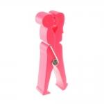 Porta Cartões Clips Casal Rosa - 19x7 cm