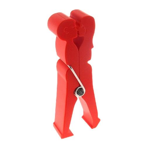 Porta Cartões Clips Casal Vermelho - 19x7 cm