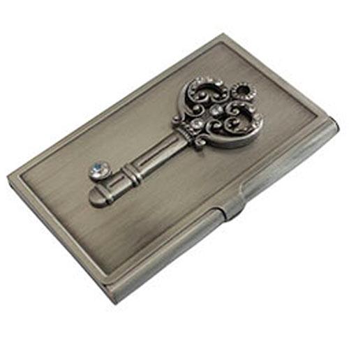 Porta Cartões Key em Metal - 10x6 cm
