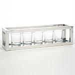 Porta Castiçais - 5 Peças - em Vidro