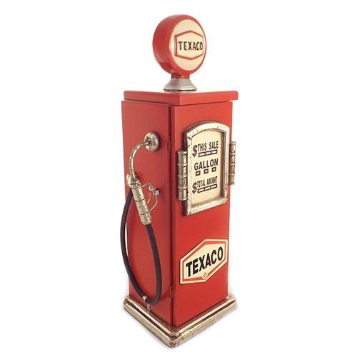 Porta CD Bomba de Gasolina Texaco Oldway - 50x18 cm