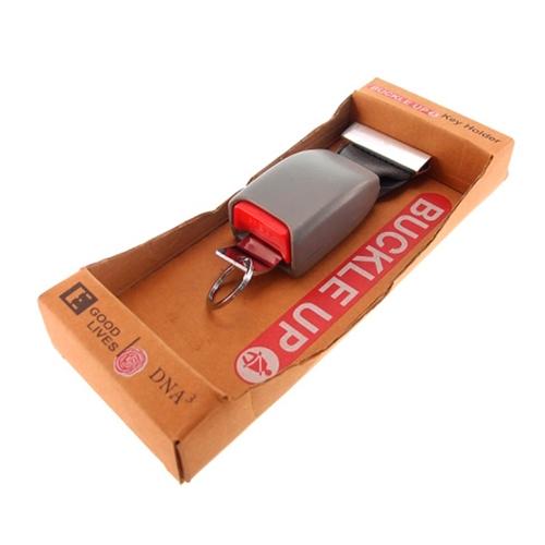 Porta Chaves Cinto de Segurança Cinza - 25x10 cm
