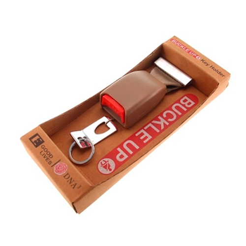 Porta Chaves Cinto de Segurança Marrom - 25x10 cm