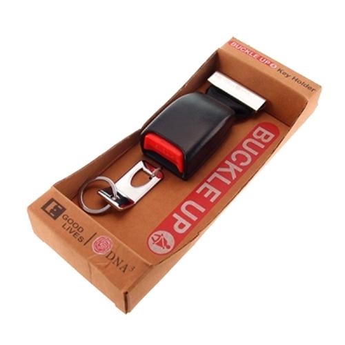 Porta Chaves Cinto de Segurança Preto - 25x10 cm