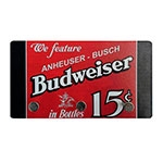 Porta Chaves de Metal Budweiser We Feature in Bottles - 3 Pinos - 15x8 cm