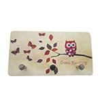 Porta Chaves de Metal Coruja Good Morning - 3 Pinos - 15x8 cm