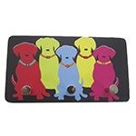 Porta Chaves de Metal Dog Colors - 3 Pinos - 15x8 cm