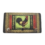 Porta Chaves de Metal Galo Patchwork - 3 Pinos - 15x8 cm