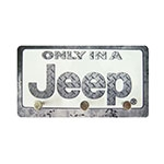 Porta Chaves de Metal Only in a Jeep - 14,5x8 cm