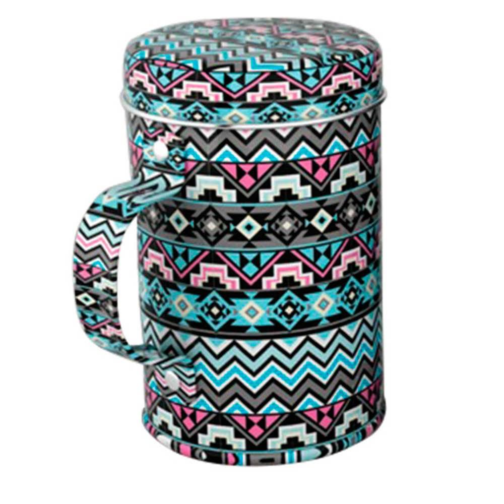 Porta Condimento Asteca Colorido em Metal - Urban - 9,8x6,6 cm