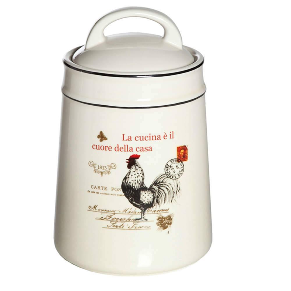 Porta Condimento Rooster Branco Pequeno em Cerâmica - Urban - 18x11 cm