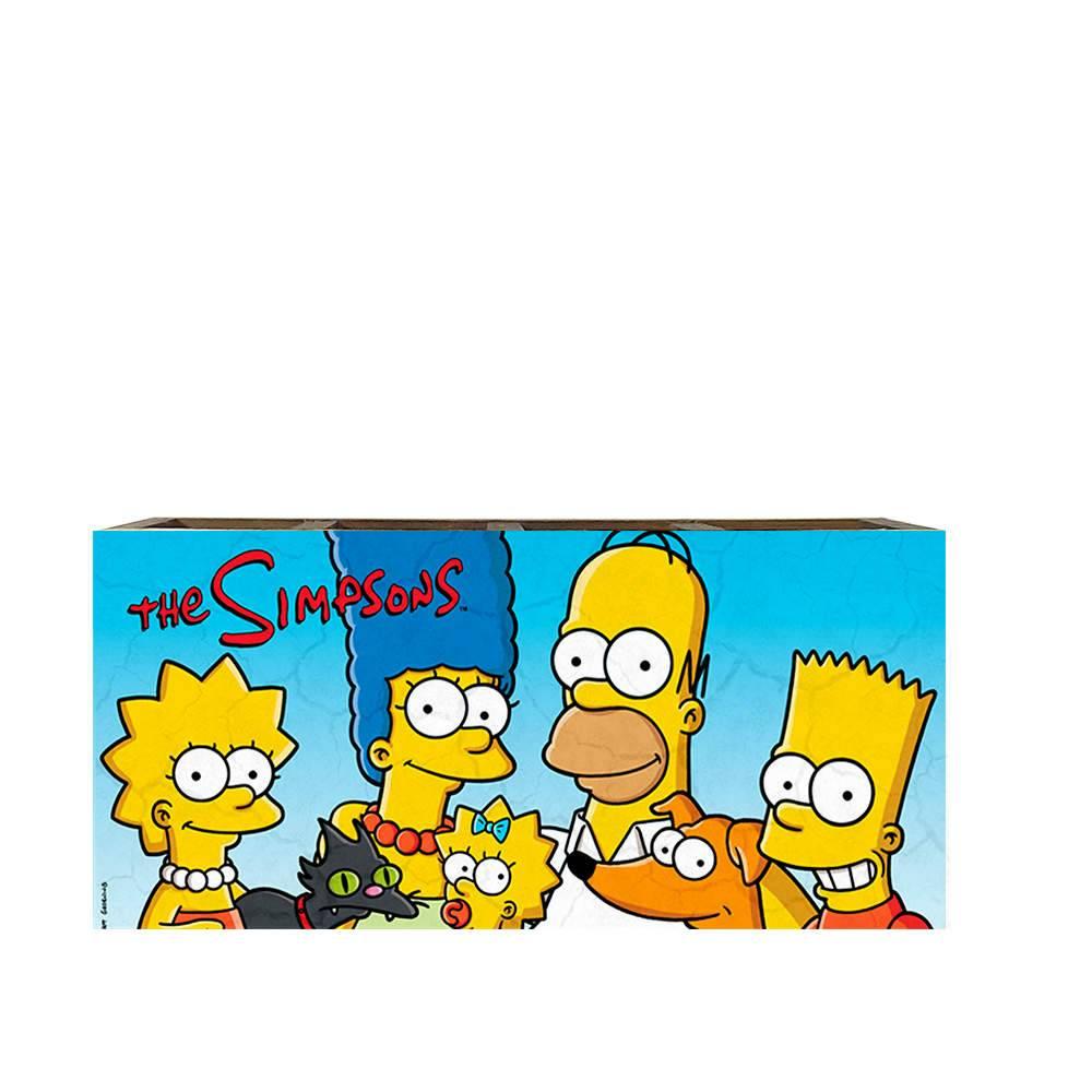 Porta Controles Família Simpson em Madeira - 22x9,5 cm