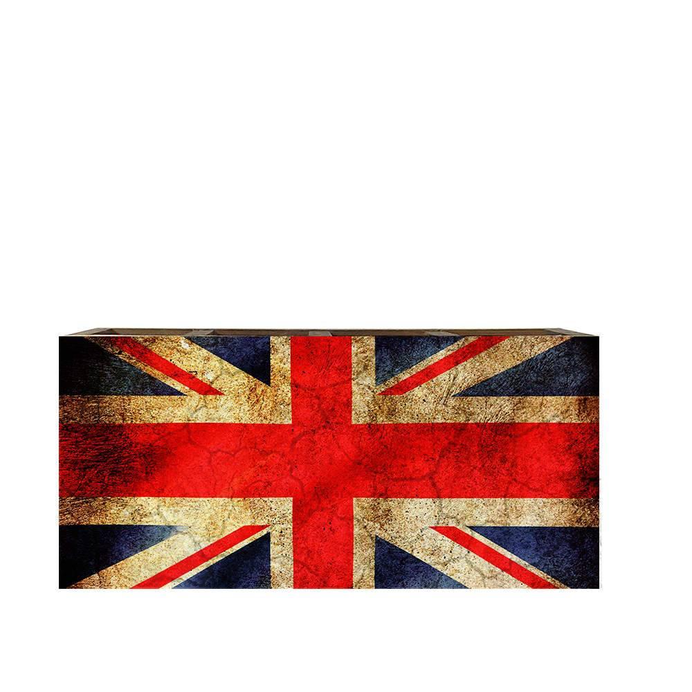 Porta Controles Remotos Bandeira da Inglaterra em Madeira - 22x9,5 cm