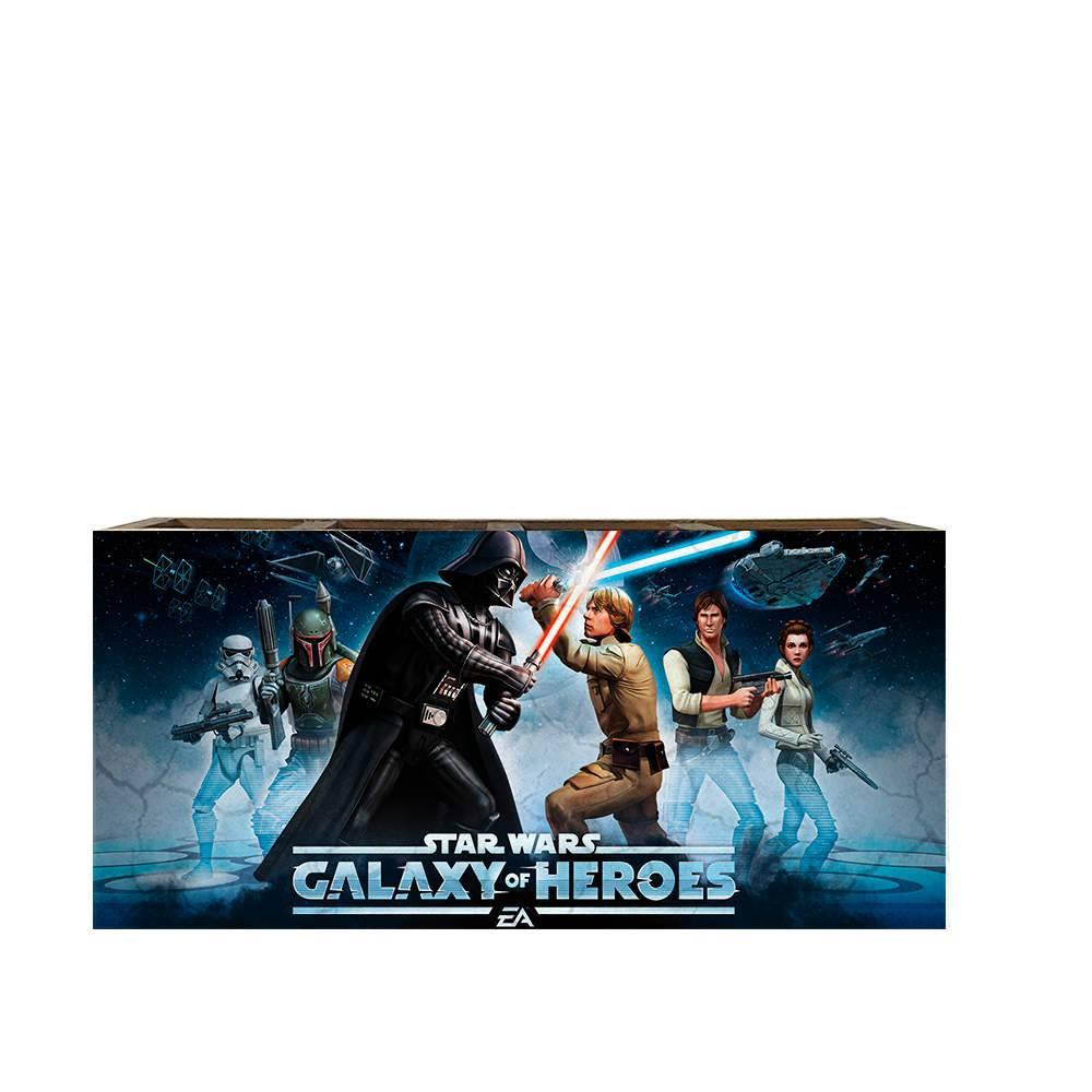Porta Controles Remotos Jogo Star Wars Galaxy of Heroes em Madeira - 22x9,5 cm