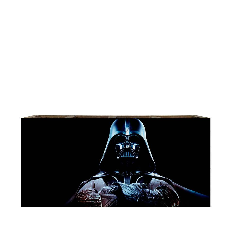 Porta Controles Remotos Star Wars - Darth Vader - em Madeira - 22x9,5 cm