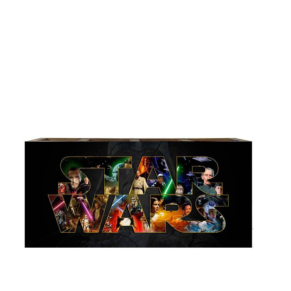 Porta Controles Remotos Star Wars em Madeira - 22x9,5 cm