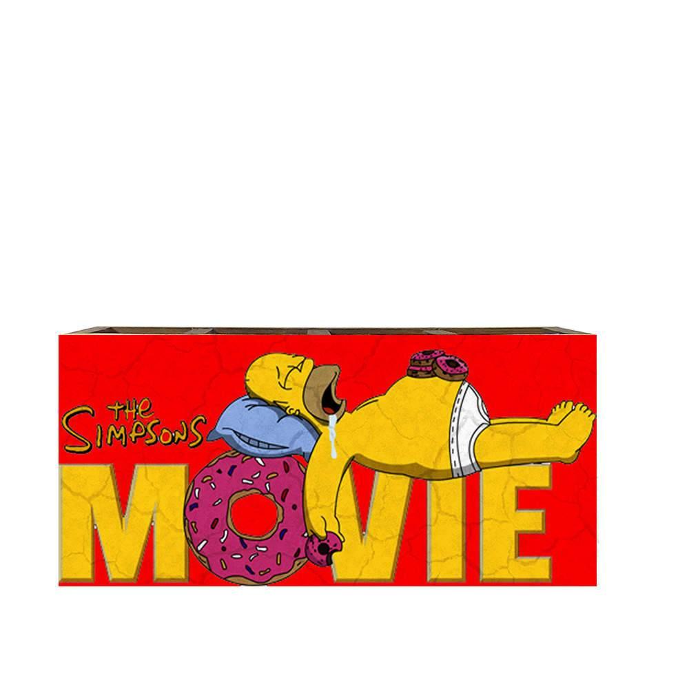 Porta Controles The Simpsons Movie - Homer - em Madeira - 22x9,5 cm