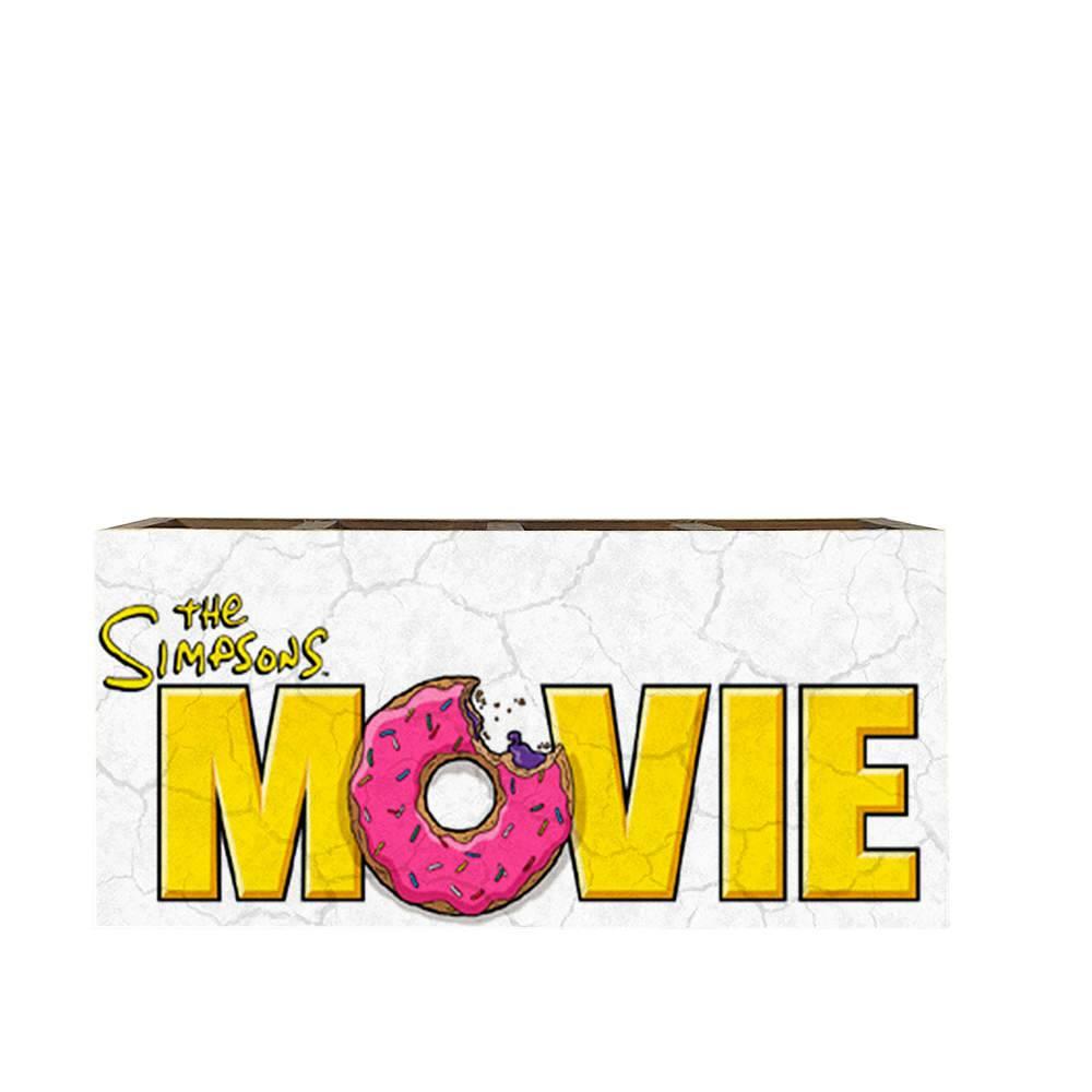 Porta Controles The Simpsons Movie em Madeira - 22x9,5 cm