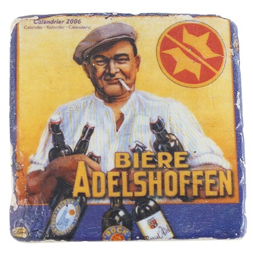 Porta-Copo Bar Biere Adelshoffen Oldway em Resina - 10x10 cm