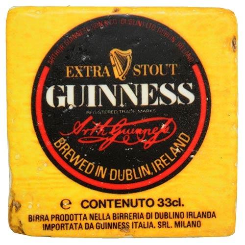 Porta-Copo Guinness Amarelo Oldway em Resina - 10x10 cm