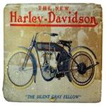 Porta-Copo Moto Harley Davidson Azul Oldway em Resina
