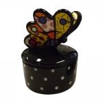 Porta Joias Butterfly - Romero Britto - em Cerâmica - 12x9 cm