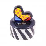 Porta Joias Heart - Romero Britto - em Cerâmica - 12x9 cm