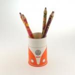 Porta lápis emborrachado kombi laranja