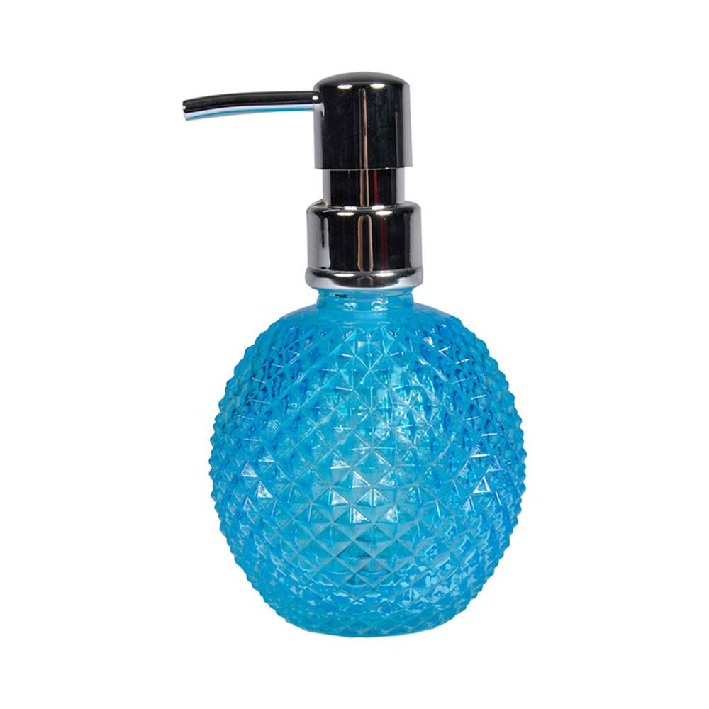Porta Loção Bico de Jaca Charm Azul em Vidro - Urban - 16,5x9,5 cm