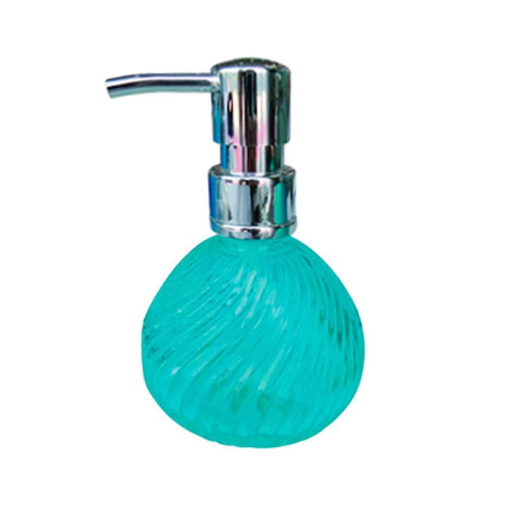 Porta Loção Bico de Jaca Plissado Azul em Vidro - Urban - 16,5x9,5 cm