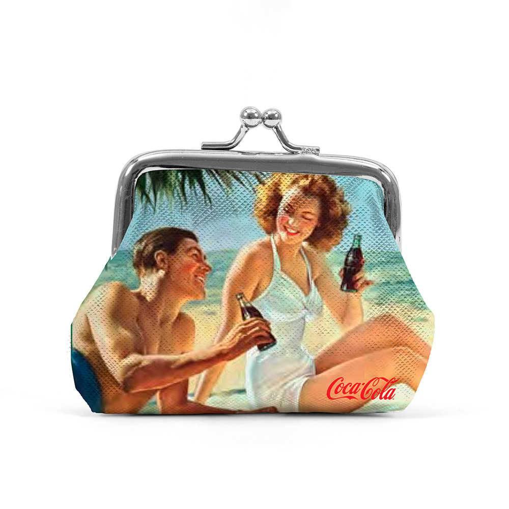 Porta Moedas Coca-Cola Man And Woman Colorido em PU - Urban - 11x10 cm