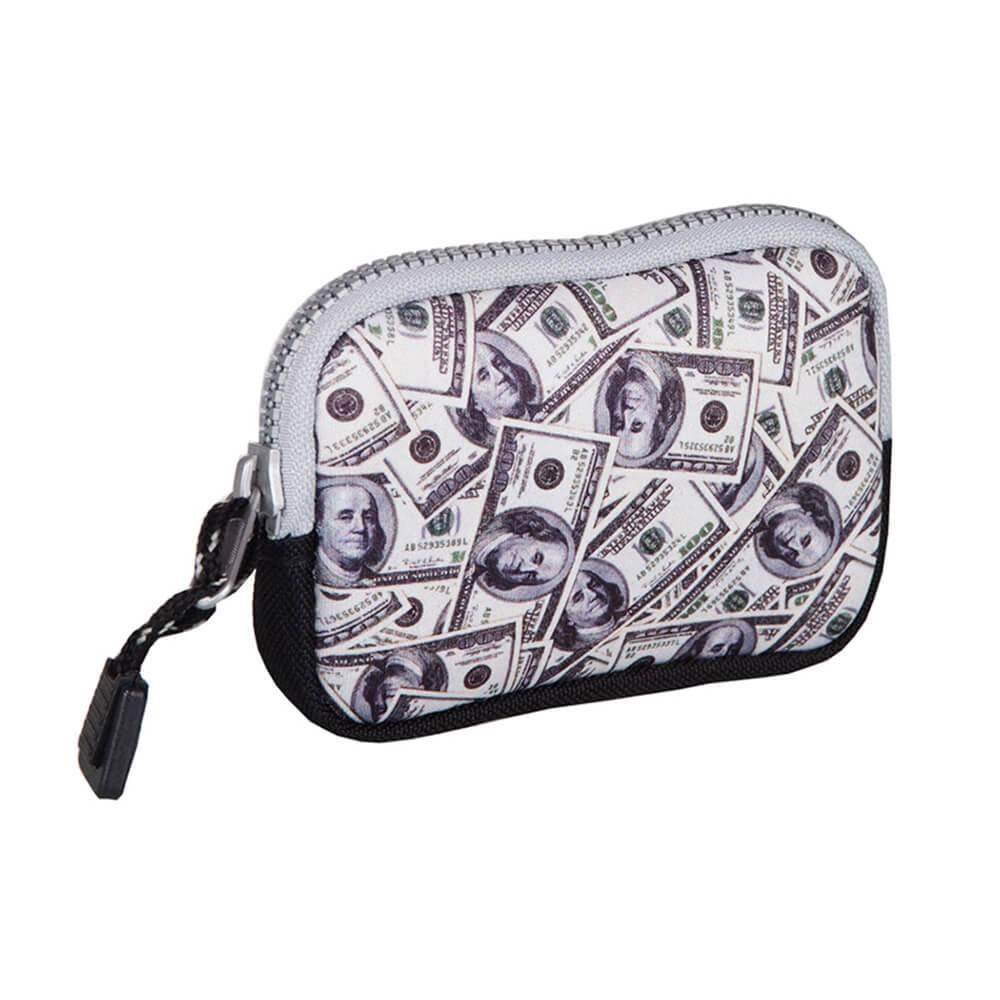 Porta Moedas Estampa Dolar em Neoprene - Urban - 11,5x7,5 cm